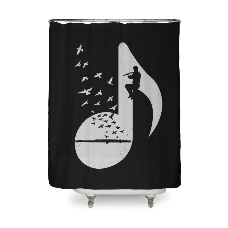 Musical - Flute Home Shower Curtain by barmalisiRTB