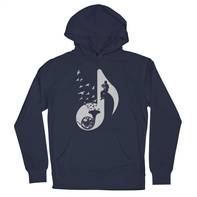 Musical - French Horn Men's Pullover Hoody by barmalisiRTB