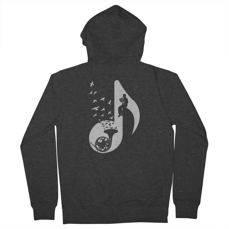 Musical - French Horn Women's Zip-Up Hoody by barmalisiRTB