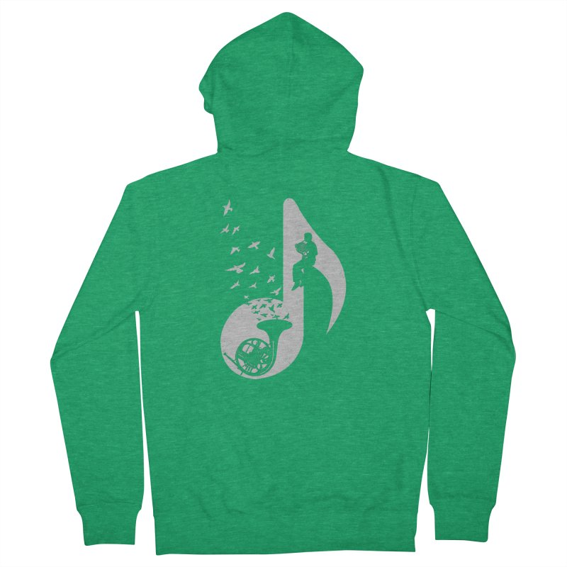 Musical - French Horn Men's Zip-Up Hoody by barmalisiRTB