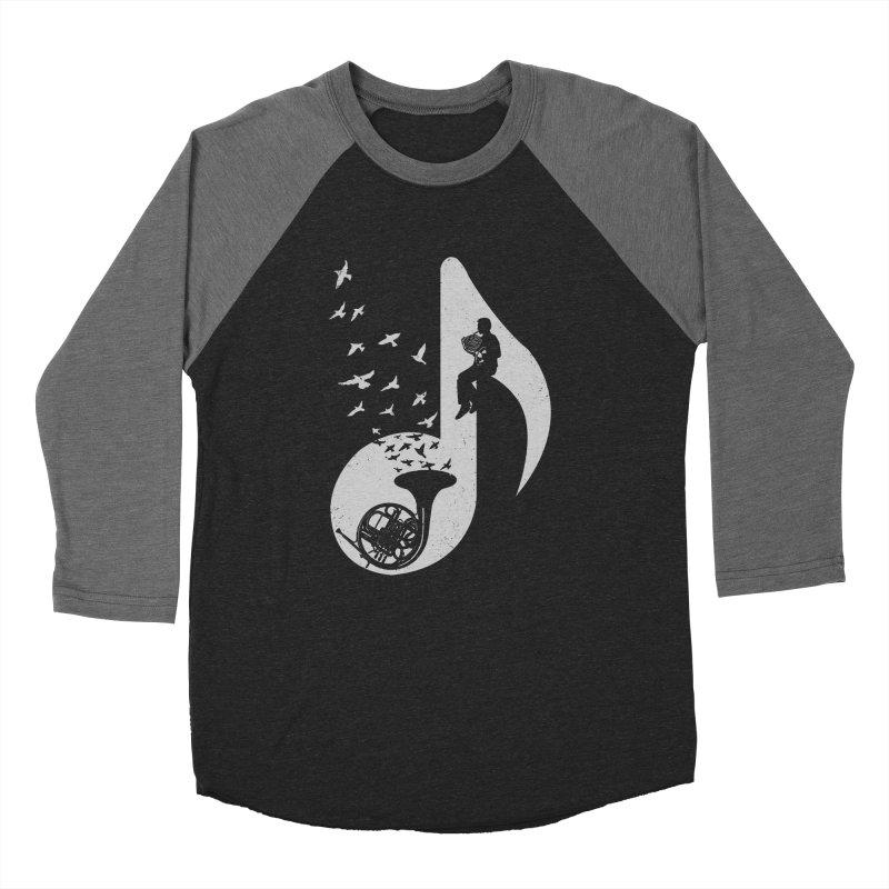 Musical - French Horn Men's Baseball Triblend T-Shirt by barmalisiRTB