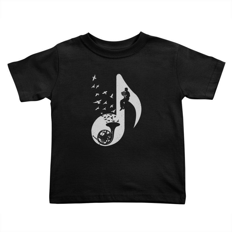 Musical - French Horn Kids Toddler T-Shirt by barmalisiRTB