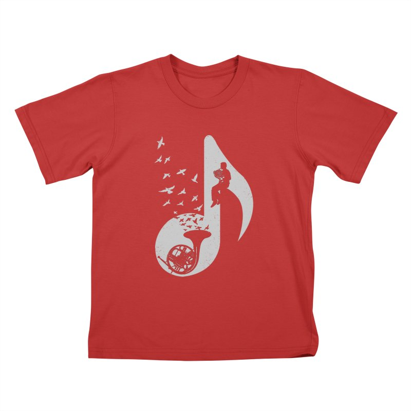 Musical - French Horn Kids T-shirt by barmalisiRTB
