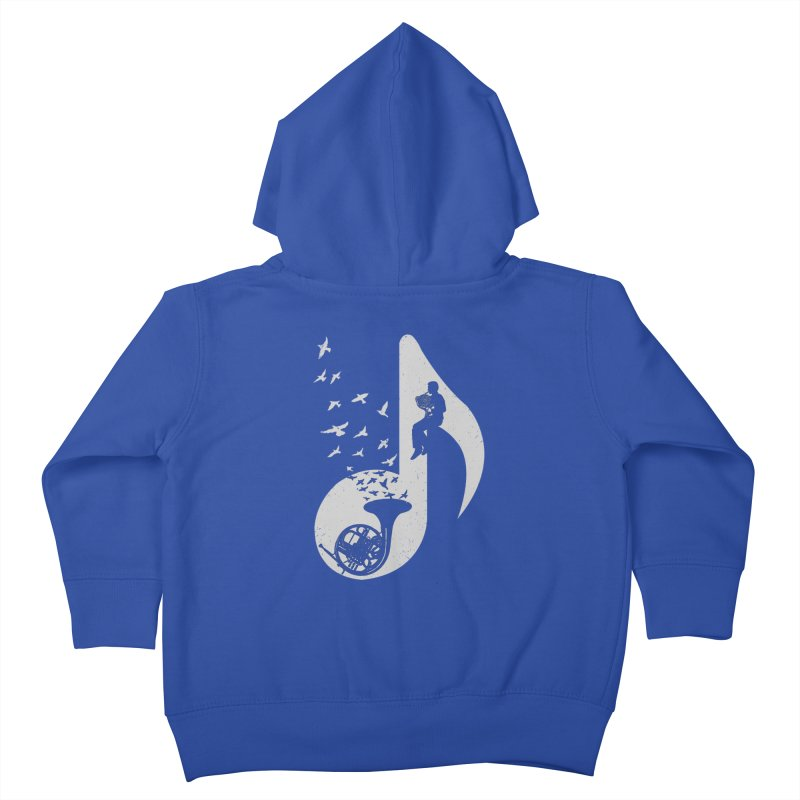 Musical - French Horn Kids Toddler Zip-Up Hoody by barmalisiRTB