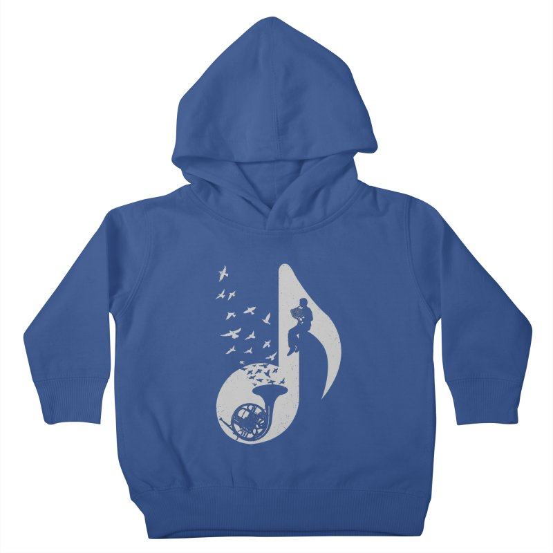 Musical - French Horn Kids Toddler Pullover Hoody by barmalisiRTB