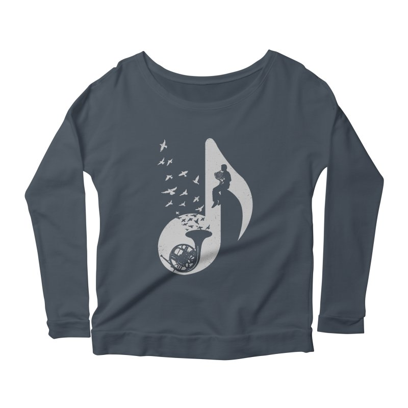 Musical - French Horn Women's Longsleeve Scoopneck  by barmalisiRTB