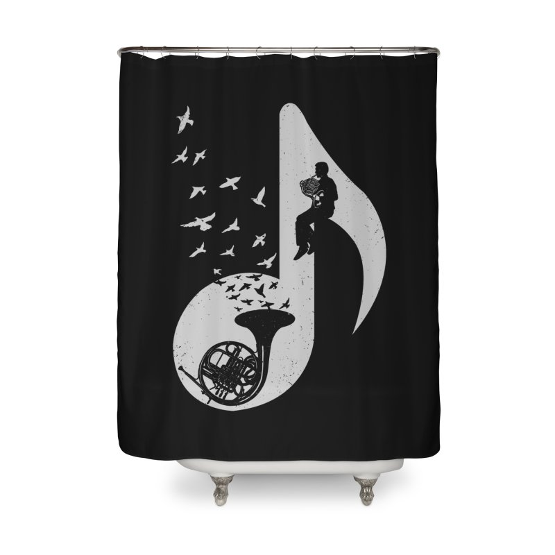 Musical - French Horn Home Shower Curtain by barmalisiRTB
