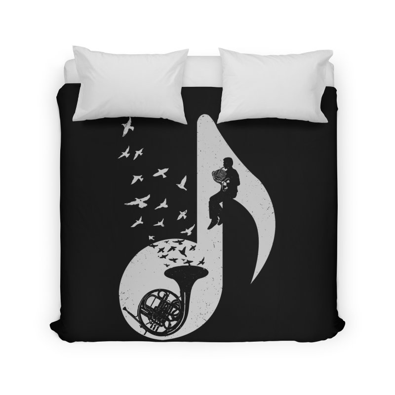 Musical - French Horn Home Duvet by barmalisiRTB
