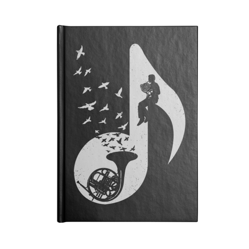 Musical - French Horn Accessories Notebook by barmalisiRTB