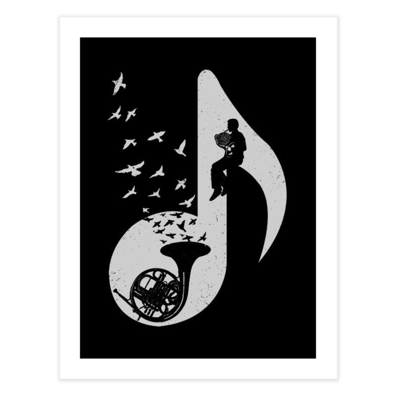 Musical - French Horn Home Fine Art Print by barmalisiRTB