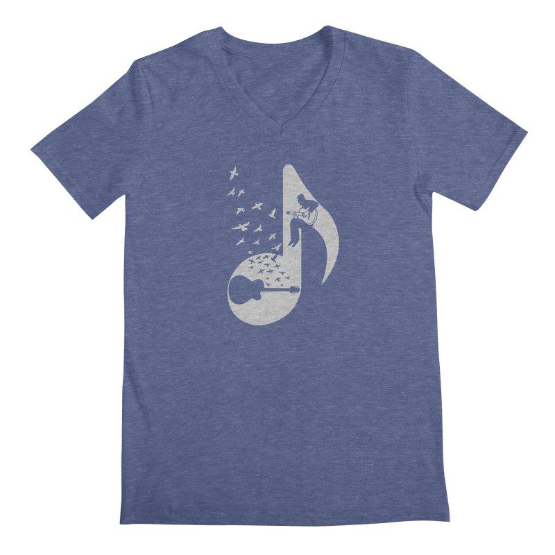 Musical - Guitar Men's V-Neck by barmalisiRTB