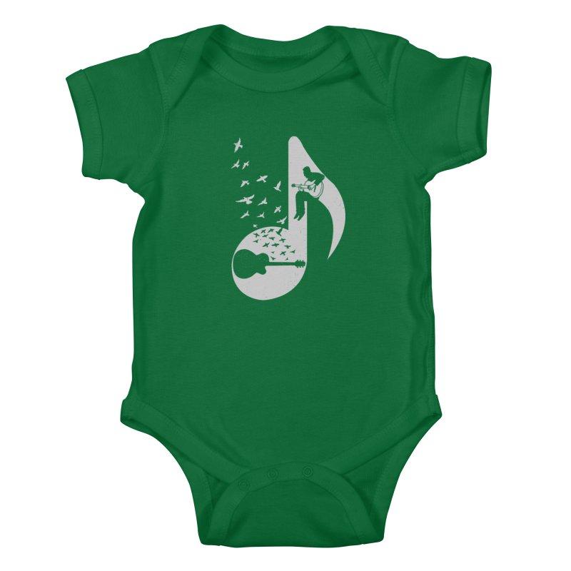 Musical - Guitar Kids Baby Bodysuit by barmalisiRTB