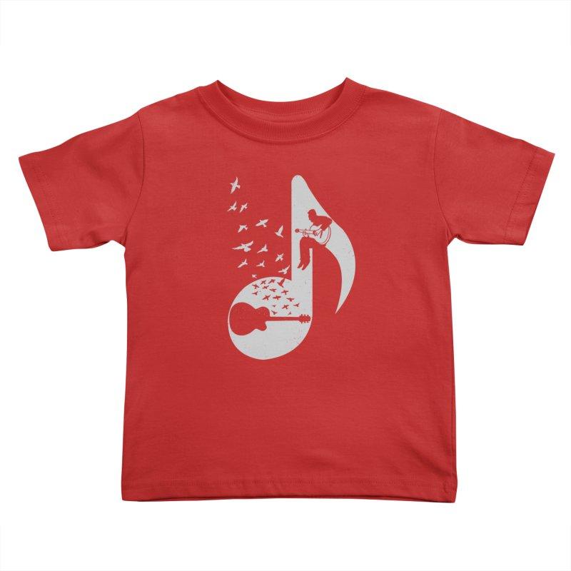 Musical - Guitar Kids Toddler T-Shirt by barmalisiRTB
