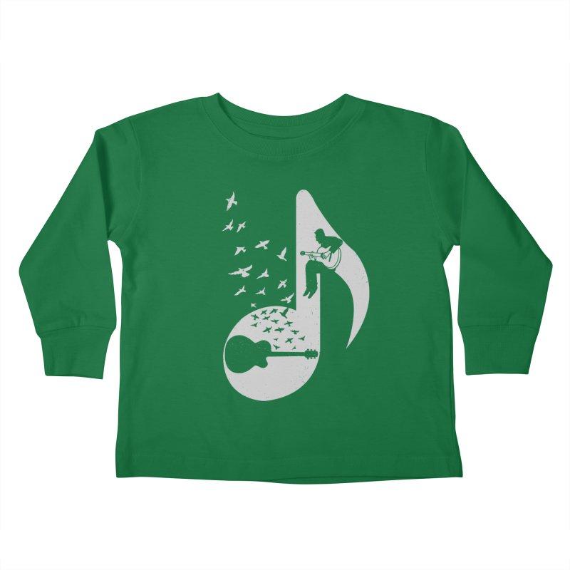 Musical - Guitar Kids Toddler Longsleeve T-Shirt by barmalisiRTB