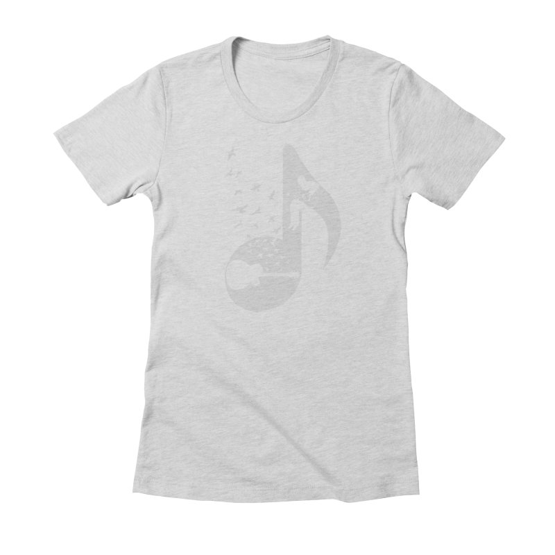 Musical - Guitar Women's Fitted T-Shirt by barmalisiRTB