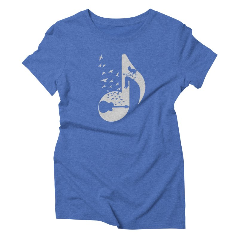 Musical - Guitar Women's Triblend T-shirt by barmalisiRTB