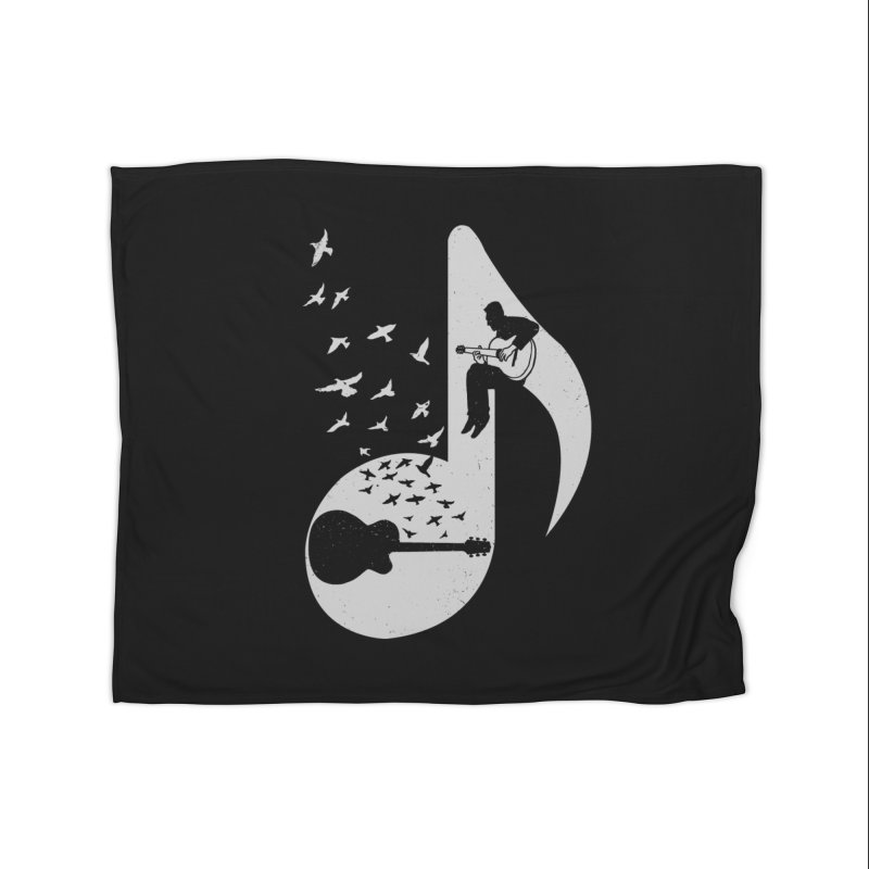Musical - Guitar Home Fleece Blanket by barmalisiRTB