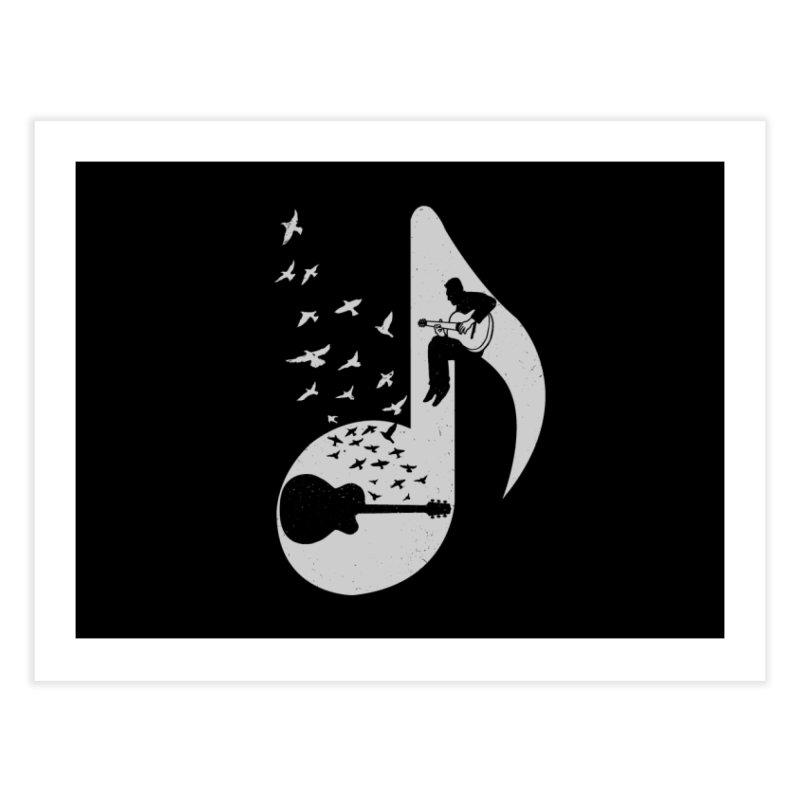 Musical - Guitar Home Fine Art Print by barmalisiRTB