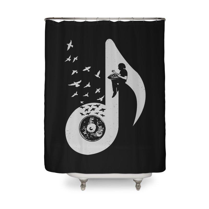 Musical - Hang Drum Home Shower Curtain by barmalisiRTB