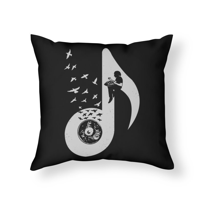 Musical - Hang Drum Home Throw Pillow by barmalisiRTB