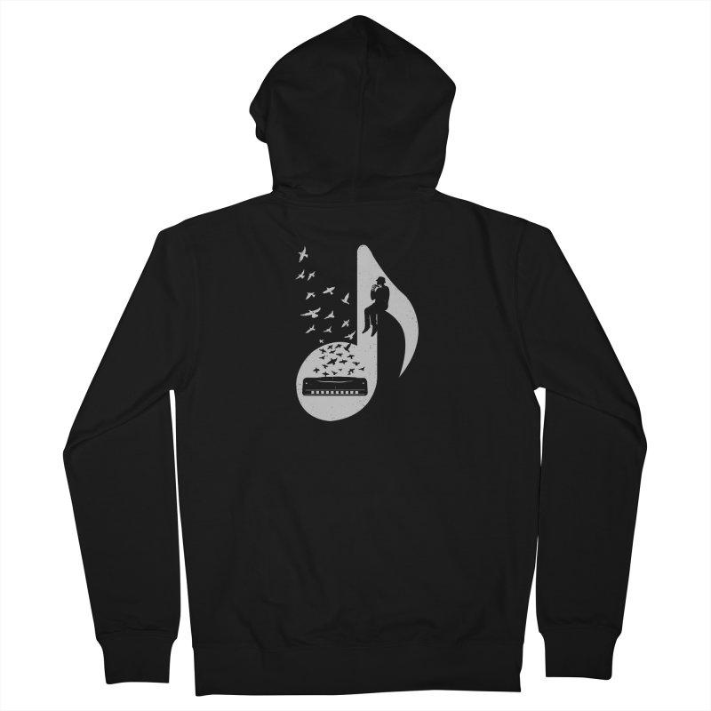 Musical - Harmonica Men's Zip-Up Hoody by barmalisiRTB