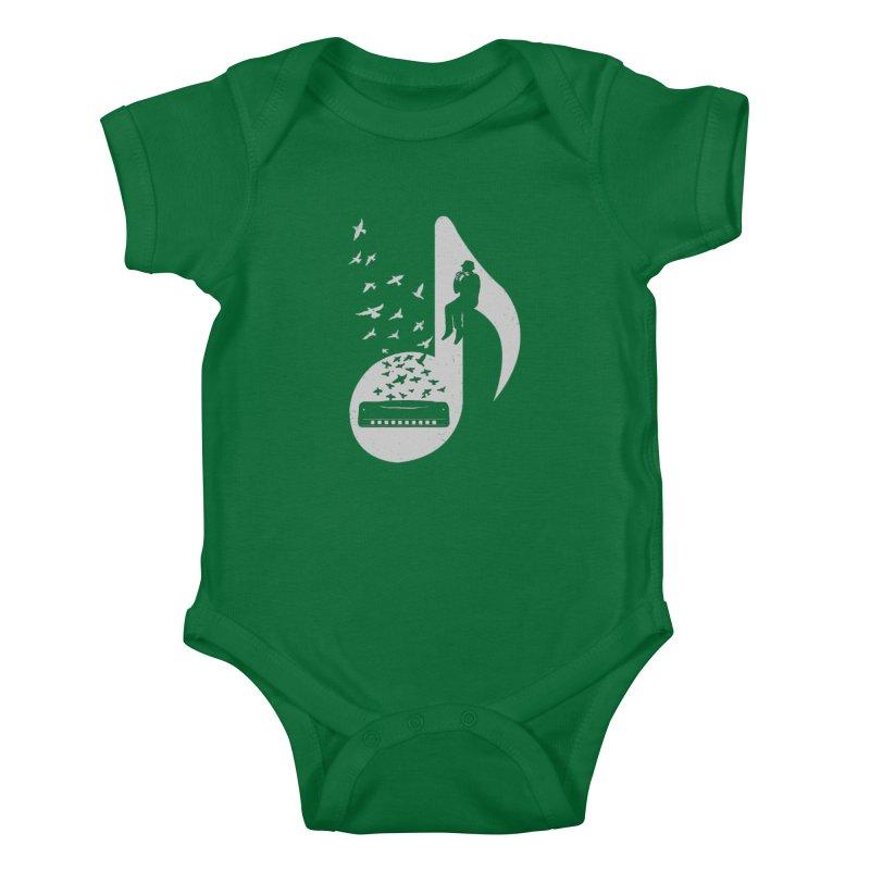 Musical - Harmonica Kids Baby Bodysuit by barmalisiRTB