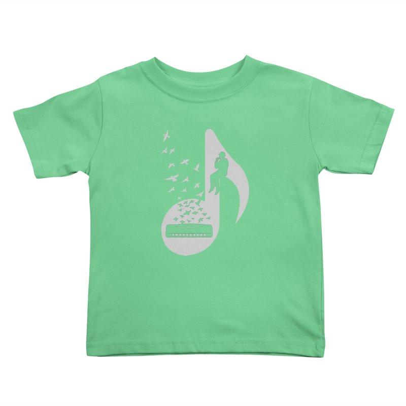 Musical - Harmonica Kids Toddler T-Shirt by barmalisiRTB