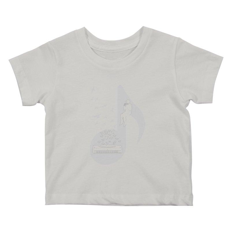 Musical - Harmonica Kids Baby T-Shirt by barmalisiRTB