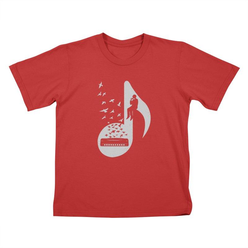 Musical - Harmonica Kids T-shirt by barmalisiRTB