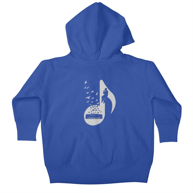 Musical - Harmonica Kids Baby Zip-Up Hoody by barmalisiRTB