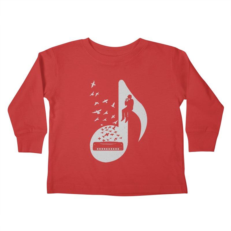 Musical - Harmonica Kids Toddler Longsleeve T-Shirt by barmalisiRTB