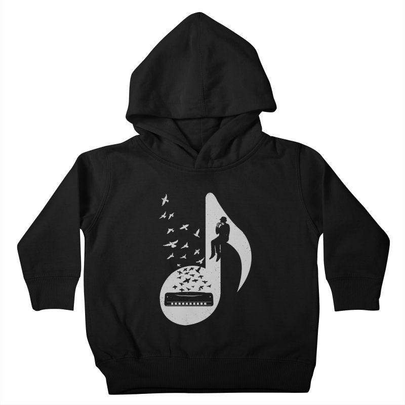 Musical - Harmonica Kids Toddler Pullover Hoody by barmalisiRTB
