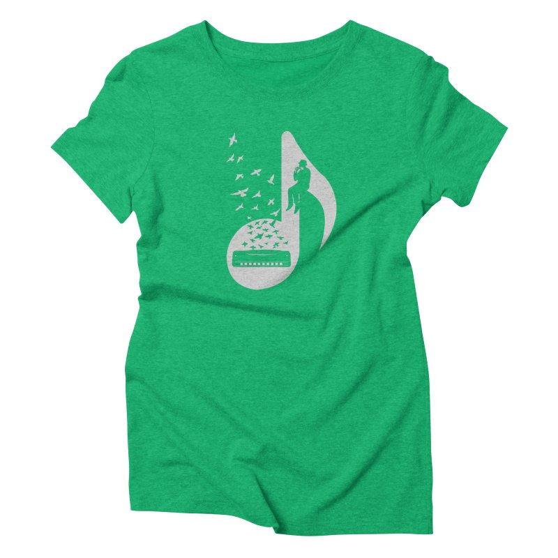 Musical - Harmonica Women's Triblend T-shirt by barmalisiRTB