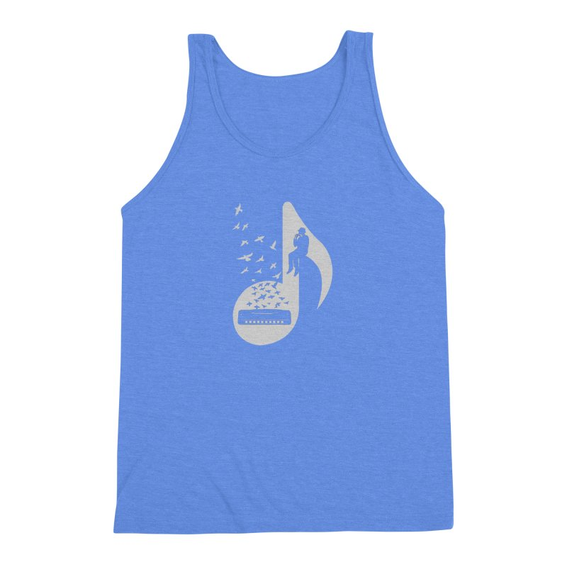 Musical - Harmonica Men's Triblend Tank by barmalisiRTB