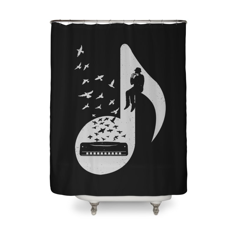 Musical - Harmonica Home Shower Curtain by barmalisiRTB