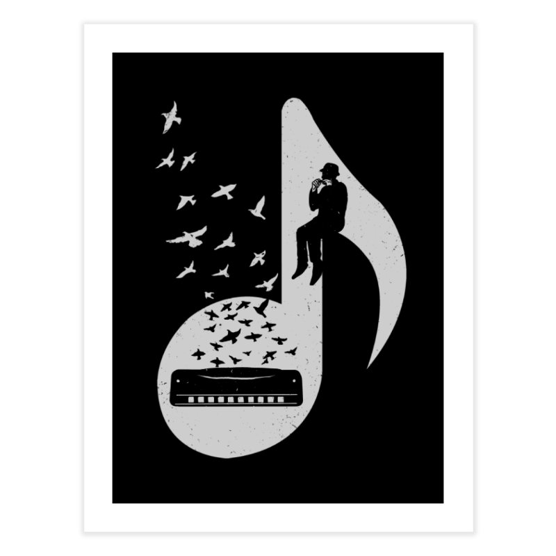 Musical - Harmonica Home Fine Art Print by barmalisiRTB