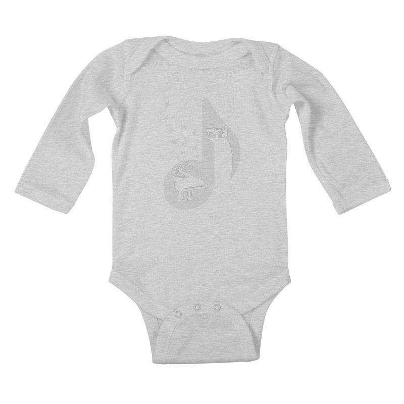 Musical - Piano Kids Baby Longsleeve Bodysuit by barmalisiRTB