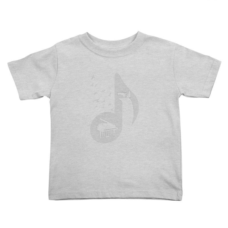 Musical - Piano Kids Toddler T-Shirt by barmalisiRTB