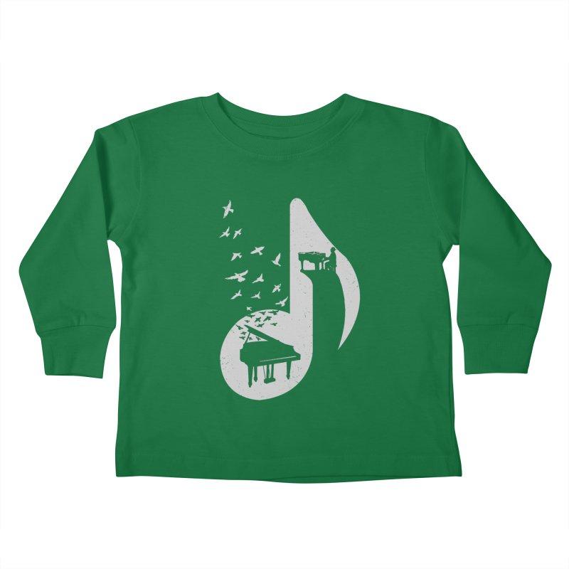 Musical - Piano Kids Toddler Longsleeve T-Shirt by barmalisiRTB