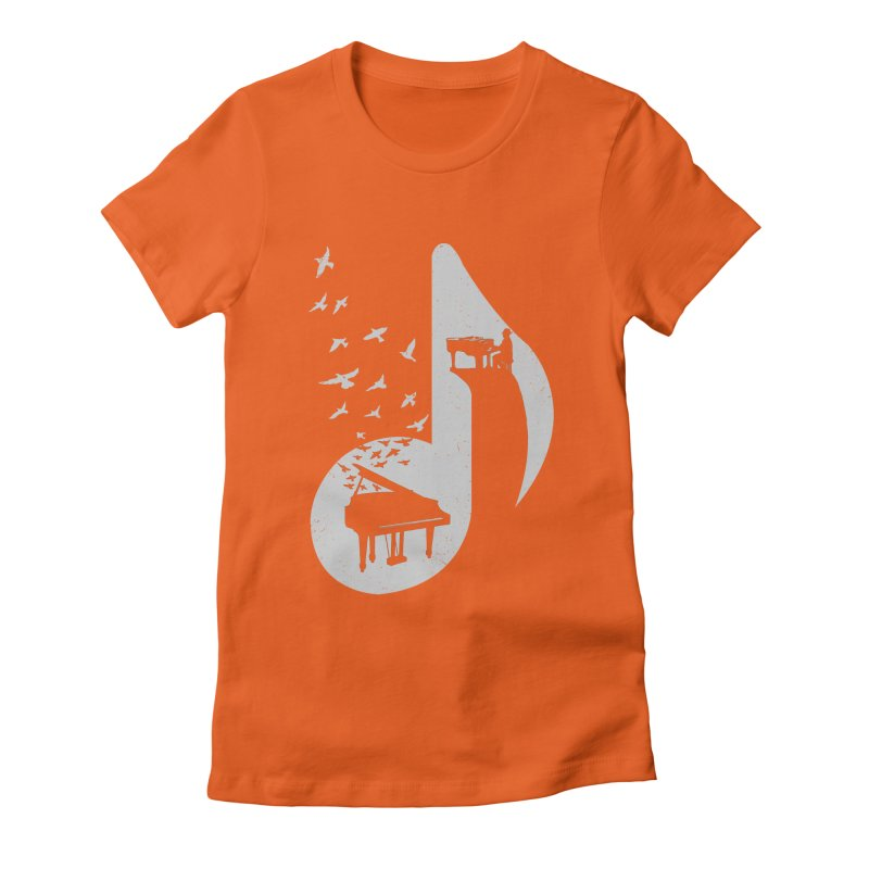 Musical - Piano Women's Fitted T-Shirt by barmalisiRTB