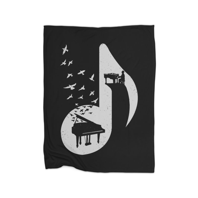 Musical - Piano Home Fleece Blanket by barmalisiRTB