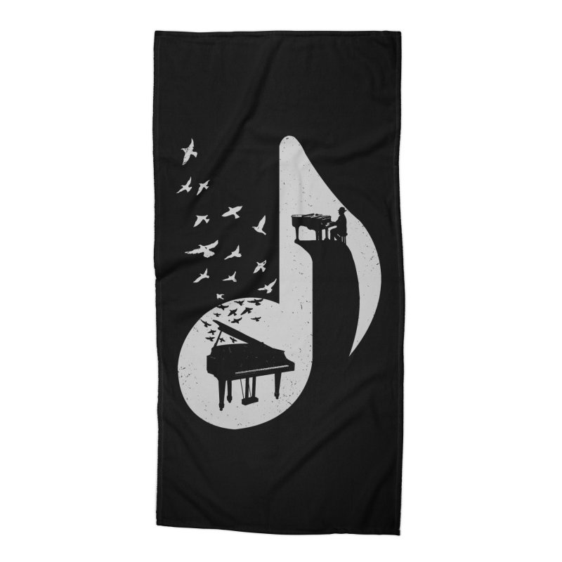 Musical - Piano Accessories Beach Towel by barmalisiRTB