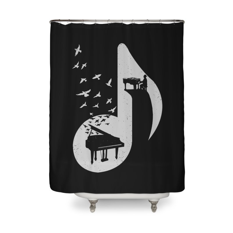 Musical - Piano Home Shower Curtain by barmalisiRTB