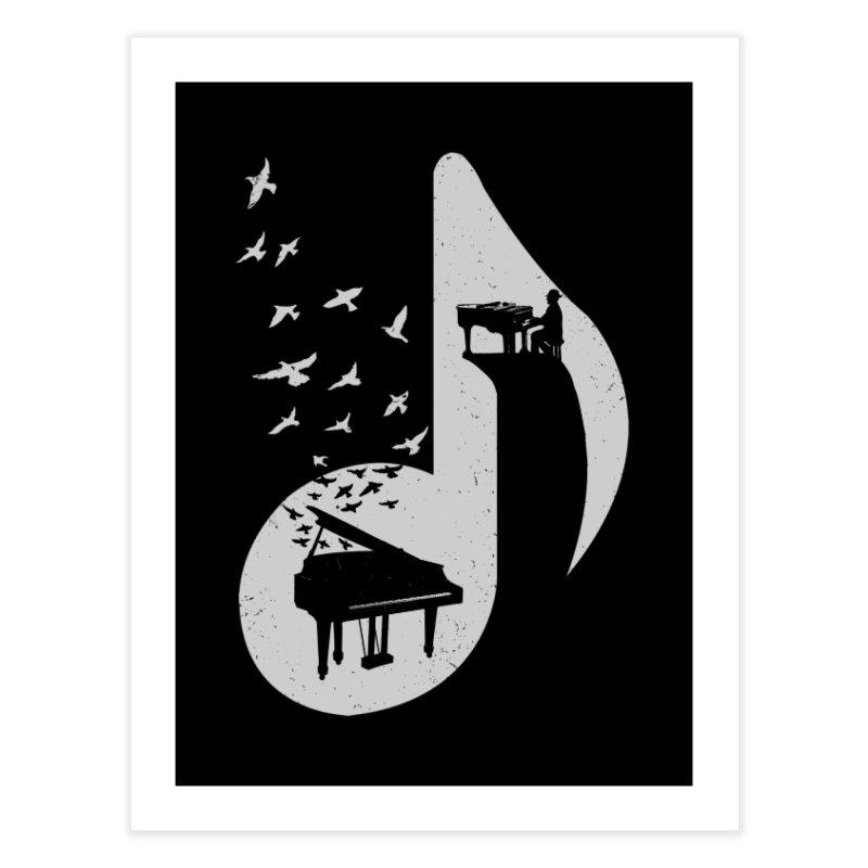 Musical - Piano Home Fine Art Print by barmalisiRTB