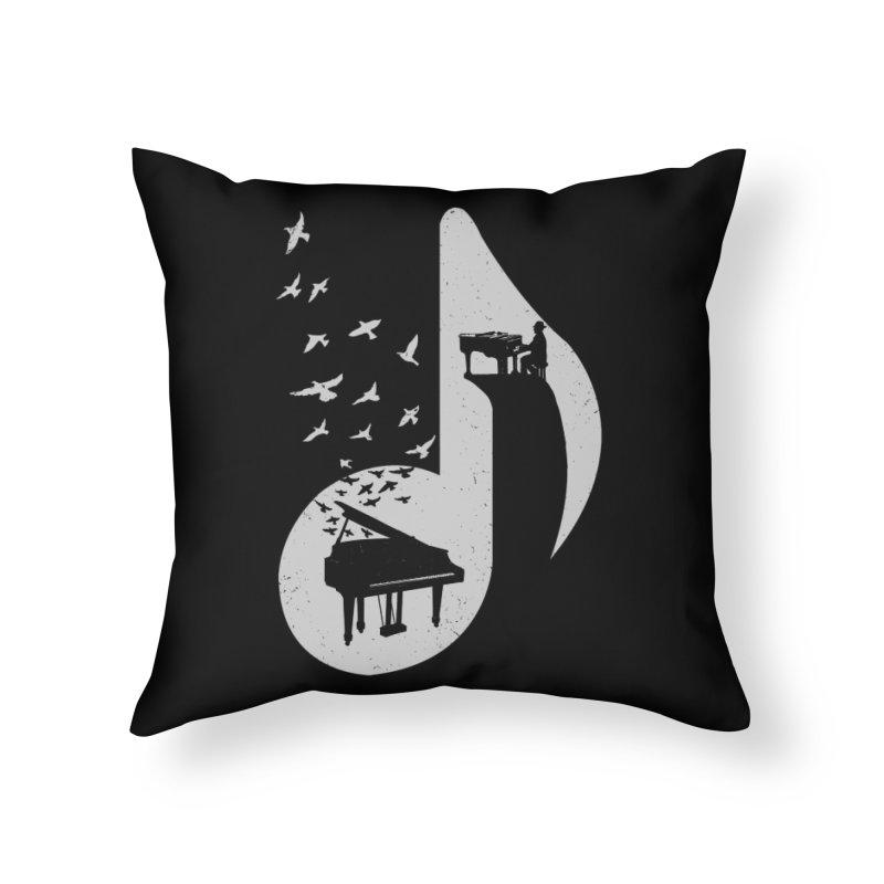 Musical - Piano Home Throw Pillow by barmalisiRTB