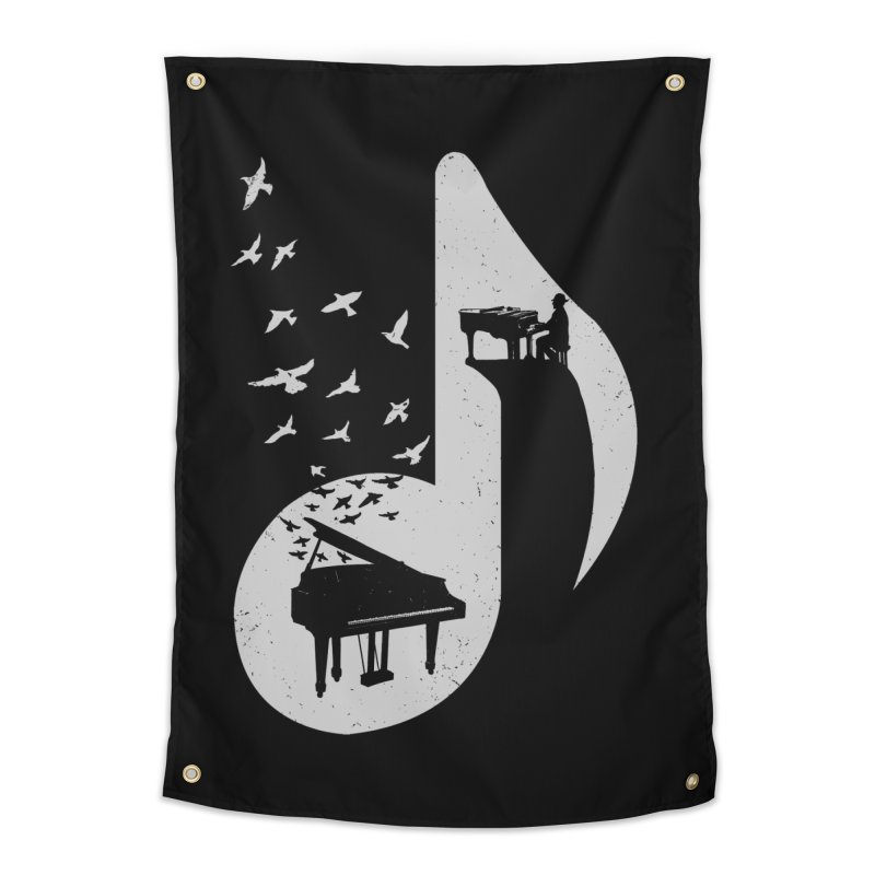 Musical - Piano Home Tapestry by barmalisiRTB