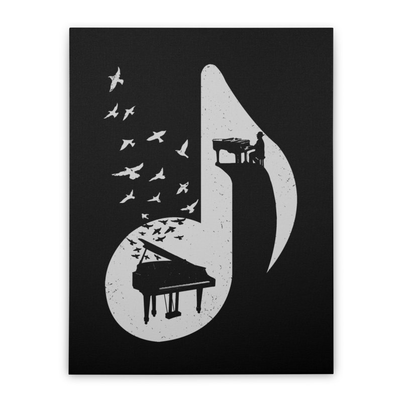 Musical - Piano Home Stretched Canvas by barmalisiRTB