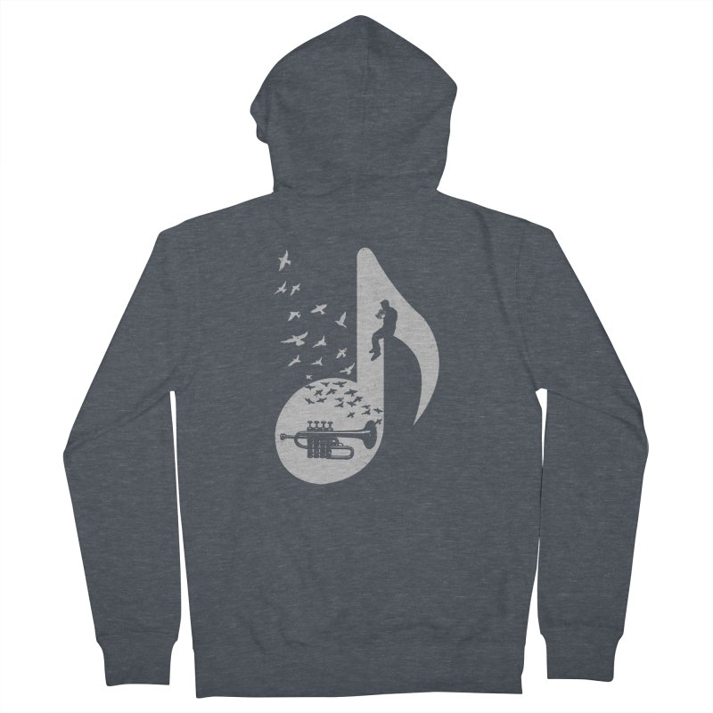 Musical - Piccolo Trumpet Women's Zip-Up Hoody by barmalisiRTB
