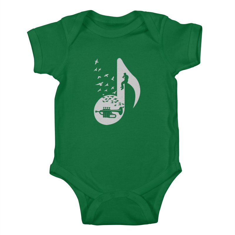 Musical - Piccolo Trumpet Kids Baby Bodysuit by barmalisiRTB