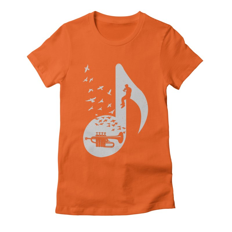 Musical - Piccolo Trumpet Women's Fitted T-Shirt by barmalisiRTB